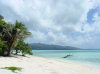 Northern Marianas - Saipan - Managaha island: beach and view of Saipan (photo by Peter Willis)