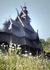 Norway Oslo: stave church - Open-Air Museum - Norsk Folkmuseum (photo by B.Cain)