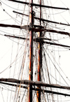 Norway - Oslo: Ship's mast (photo by B.Cain)