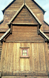 Norway / Norge - Lom (Oppland): stave church - detail of the façade (photo by Juraj Kaman)