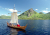 Norway / Norge - Borg - Lofoten islands (Nordland): replica of a Viking ship (photo by Juraj Kaman)