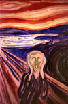 Norway / Norge - Oslo: the scream at Edward Munch's museum - Munch Museet (photo by Miguel Torres)