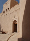 Oman - Nizwa: fort - gate - photo by B.Cloutier