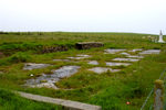 Scotland - Orkney - Lamb Holm island - foundations - all that remains of the barracks where the Italian POWs were housed.Camp 60 - photo by Carlton McEachern