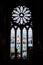 Orkeny island - Kirkwall- St Magnus Cathedral - stained glass - photo by Carlton McEachern