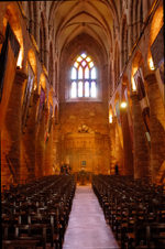 Orkney island - Kirkwall- St Magnus Cathedral - interior - photo by Carlton McEachern