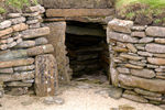 Orkney island - Skara Brae- part of the passage way that joined all of the houses in the village- this was originally roofed over - photo by Carlton McEachern