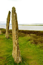 Orkney island, Mainland- Ring o' Brodgar - The stone ring was built in a true circle, 104 metreswide, and originally contained 60 megaliths. Today, only 27 of these stonesremain - photo by Carlton McEachern