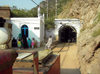 Jhelum District, Punjab, Pakistan: Khewra Salt Mines - main tunnel - photo by D.Steppuhn
