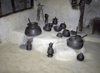 Karimabad / Baltit - Northern Areas, Pakistan: Baltit fort - kitchen utensils in the museum - Hunza Valley - photo by D.Steppuhn