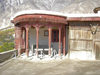 Karimabad / Baltit - Northern Areas, Pakistan: Baltit fort - roof pavillion - Hunza Valley - photo by D.Steppuhn