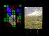 Karimabad / Baltit - Northern Areas, Pakistan: window over the village and the Hunza Valley - Baltit fort - KKH - photo by D.Steppuhn