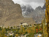 Karimabad / Baltit - Northern Areas, Pakistan: the village and Baltit fort under the Karakoram mountains - KKH - photo by D.Steppuhn