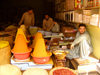 Pakistan - Peshawar: spices and shop keeper - market - commerce - photo by A.Summers