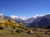 Duikar hamlet, Altit - Northern Areas, Pakistan: view to Sleeping Beauty from Eagles' Nest hotel - Hunza valley - photo by D.Steppuhn