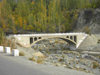 Gilgit district - Northern Areas, Pakistan: bridge over the Hunza river - Karakoram Highway - N35 - KKH - photo by D.Steppuhn