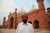 Lahore, Punjab, Pakistan: Pakistan - Punjab - Lahore - man in front of Badshahi mosque - photo by G.Koelman