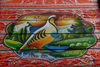 Peshawar, NWFP, Pakistan: detail of a truck painting - grouse and mountains - photo by G.Koelman