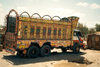 Pakistan - Mirjave - Baluchistan: decorated Pakistani truck - photo by J.Kaman