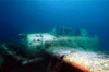 Koror, Palau: Jake Seaplane -  Aichi E13A-1 Japanese Navy Seaplane - WWII plane wreck near Meyuns Seaplane Ramp - underwater image - photo by B.Cain