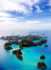 Ngerukeuid / Orukuizu islands, Rock Islands / Chelbacheb, Palau: islands and turquoise lagoons from the air - Seventy Islands wildlife reserve - photo by B.Cain