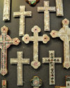 Bethlehem, West Bank, Palestine: crosses for all tastes - inlaid mother of pearl - nacre - photo by M.Torres