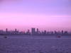 Panama City: sailboat with the Panama City skyline as background - photo by H.Olarte
