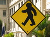Panama City: Pedestrian Crossing Sign, Panama style - photo by H.Olarte