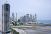 Panama City: waterfront - building along Balboa avenue - skyline - skyscrapers - photo by H.Olarte