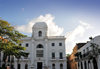 Panama City / Ciudad de Panam�: old City Hall, Museum of  Panamanian History - Plaza Mayor / Plaza de la Independencia - Casco Viejo - ayuntamiento - Antiguo Palacio Municipal - Museo de Historia de Panam� - architect Genaro Ruggieri - photo by M.Torres