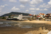 Panama City: low tide view of the Casco Viejo - photo by H.Olarte