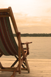 Panama - Bocas del Toro - Canvas chair on a wooden deck - photo by H.Olarte