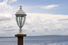 Panama - Bocas del Toro - Lampost in the Caribbean Sea - photo by H.Olarte