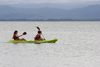 Panama - Bocas del Toro - two women canoeing - photo by H.Olarte