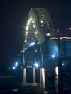 Panama Canal: Puente de las Americas at night - photo by H.Olarte