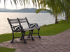 Panama Canal: Seaside Bench - photo by H.Olarte