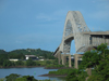 Panama Canal: Puente de las Americas - looking west - photo by H.Olarte