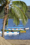 Water taxis wait for tourists on the Portobello pier, Col�n, Panama, Central America - photo by H.Olarte