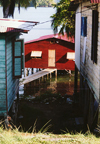 Panama - Bastimentos Island: village of banana workers - houses are often built over the water - photo by G.Frysinger
