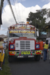 Colorful Panamanian Bus at Portobello, Col�n, Panama, Central America - photo by H.Olarte