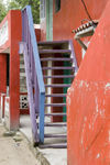 stairs - architecture detail - Isla Grande, Col�n, Panama, Central America - photo by H.Olarte