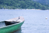 boat and the Caribbean Sea - Isla Grande, Col�n, Panama, Central America - photo by H.Olarte