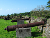 Panama - Spanish cannons at San Lorenzo del Chagres Castle. Col�n - photo by H.Olarte