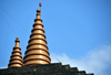 Panama City / Ciudad de Panama: Hindu temple - golden cones on the roof top - Templo Hindú - photo by M.Torres