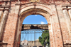 Panama City / Ciudad de Panama: Casco Viejo - ruins of the Santo Domingo convent - gate and the flat arch - Ruinas del Antiguo Convento de Santo Domingo - photo by M.Torres