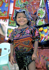 Panama - comarca Kuna Yala - San Blas Islands: Kuna girl - photo by A.Walkinshaw