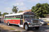 Panama City / Ciudad de Panama: Diablo Rojo bus - red devil - Balboa - photo by H.Olarte
