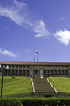 Panama canal: Panama Canal Authority Administration building, built on an artificial mound at the base of Ancon Hill - designed by Austin W. Lord, head of the department of architecture at Columbia University - Balboa - photo by H.Olarte