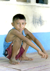 Panama - comarca Kuna Yala - San Blas Islands: schoolboy - photo by A.Walkinshaw