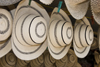 Penonomé, Coclé province, Panama: fine Panamanian hats for sale at the public market, such hats can go for up to 300 dollars - photo by H.Olarte